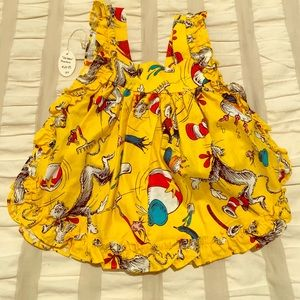 Original Dr. Seuss Pinafore. Tied sides